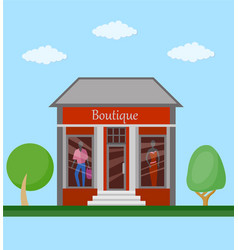 boutiqie flat icon vector image