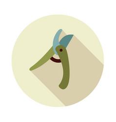 Secateurs pruner averruncator flat icon vector