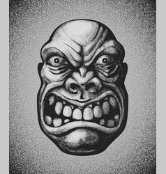 villain angry man face vector image