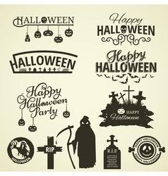 Halloween design elements vector