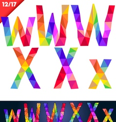 Colorful font of patches vector