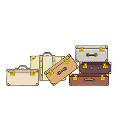 Sketch of the suitcases vector