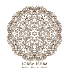 Ornamental round paisley pattern vector