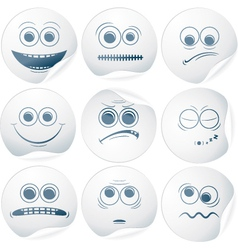 Paper smileys vector