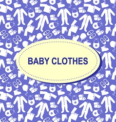 baby background blue vector image