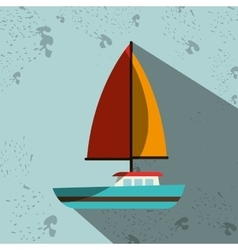 Sailboat isolated design vector