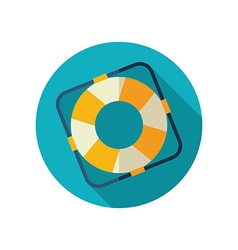 Lifebuoy flat icon summer marine vector