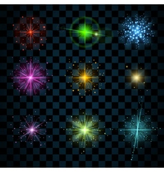 Shine colorful stars vector