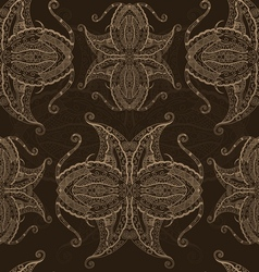 Abstract hand drawn grunge lace pattern vector
