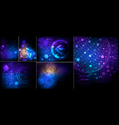 Abstract technological background vector