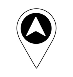 Arrow location isolated icon vector