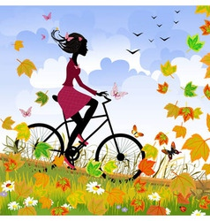 bike outdoors vector image