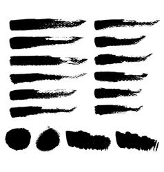 Black brush strokes vector image vector image