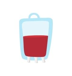 Blood bag cartoon icon vector image vector image