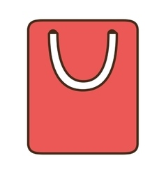 Cartoon bag gift paper shop online symbol vector