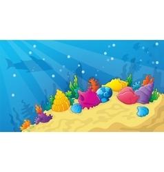 Cartoon game underwater wold vector