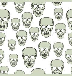 Cartoon skul pattern vector