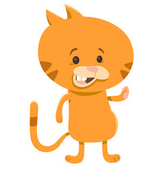 Cat cartoon character vector