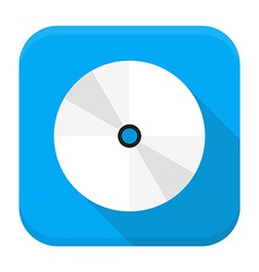 Cd dvd flat app icon with long shadow vector