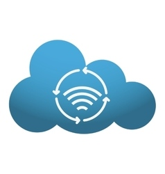 Cloud storage and wifi icon image vector