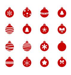 colorful christmas balls set colorful christmas vector image vector image