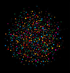 Colorful circle confetti paper on black background vector