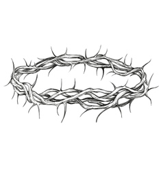 crown of thorns religious symbol hand drawn vector image vector image