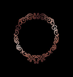 decorative rose gold frame with copyspace over vector image vector image