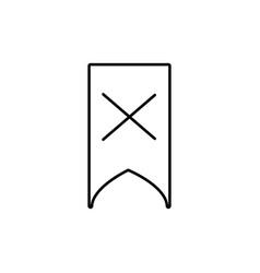 delete bookmark icon vector image