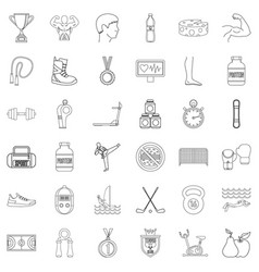 different sport icons set outline style vector image vector image
