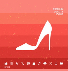 elegant women shoe vector image vector image