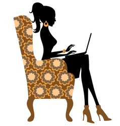 fashion blogger vector image vector image