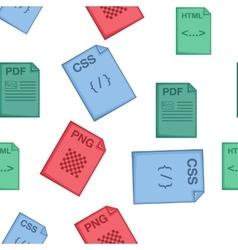 Files pattern cartoon style vector