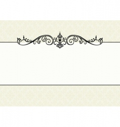 floral pattern and ornament frame vector image vector image
