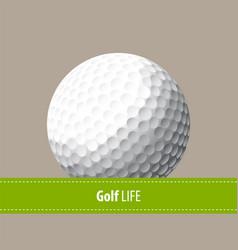 golf vector image