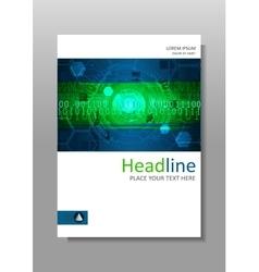 Green futuristic internet HUD cover design vector image vector image