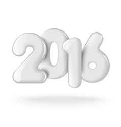 Happy new 2016 year Realistic 3D numbers vector image