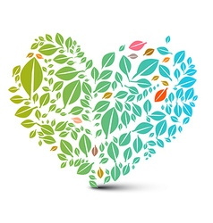 Heart shaped leaves - abstract nature ecology vector