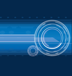 hi-tech background in blue color vector image