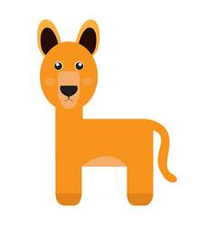 Isolated cute alpaca vector