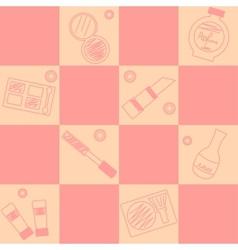 makeup seamless pattern vector image vector image