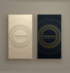 Mandala card or banners in premium golden style vector