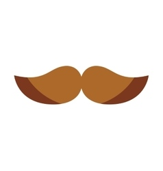 mustache silhouette isolated icon vector image