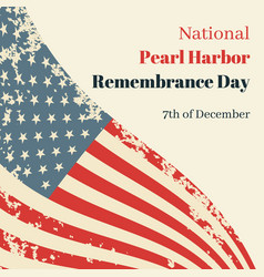 National pearl harbor remembrance day in usa card vector