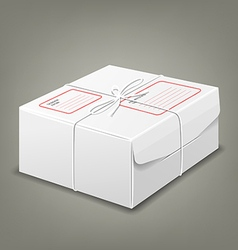 Parcel boxes white box design background vector