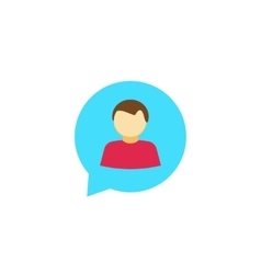 Person chat icon isolated talking symbol vector image
