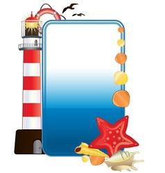 sea postcard vector image vector image