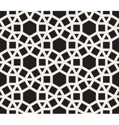 Seamless black and white tessellation vector
