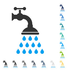 shower tap icon vector image