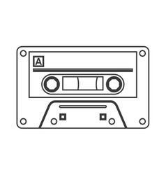 single cassette icon vector image